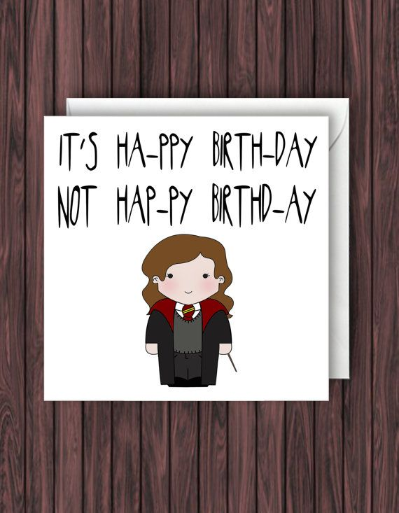 Harry Potter Birthday Card. Funny Greetings Card. Geek Blank Card |  Pinterest | Harry Potter Birthday, Harry Potter And Birthdays