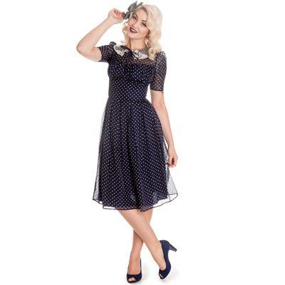 Vestido vintage de gasa, disponible en un amplio tallaje. www.monanva.com
