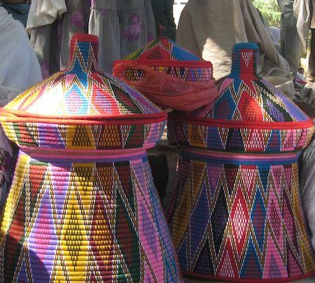 Traditional ethiopian baskets or mesob