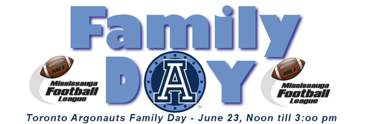 Toronto Argos Family Day 2012 and the MFL will be there!