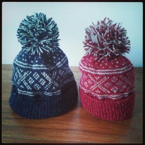 Setesdal bobble hats - http://ravel.me/KayleyKom/sh