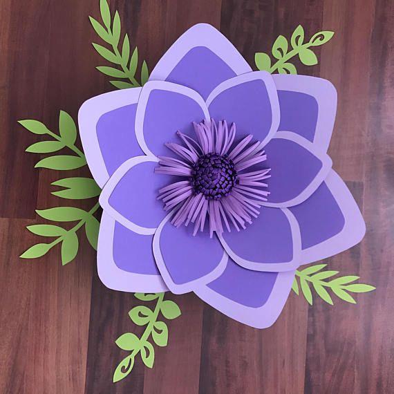 PDF Paper Flower Template with Base, DIGITAL Version - Original Design by Annie Rose