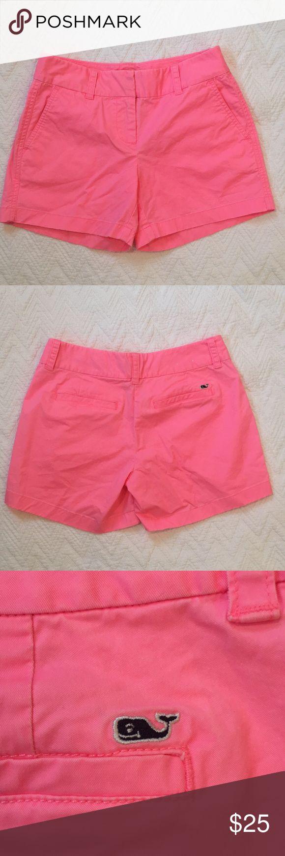Vineyard Vines hot pink shorts, size 0 Vineyard Vines 5 Inch Every Day shorts. Hot pink, size 0. Excellent condition. Vineyard Vines Shorts