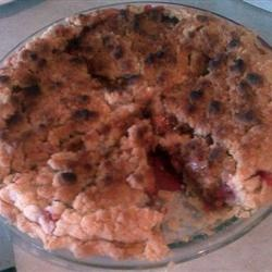 """ 5 Star ""- Crumb-Topped Strawberry Rhubarb Pie  from Allrecipes.com ( I have always added 3 eggs, beaten, to make it more of a custard style)"