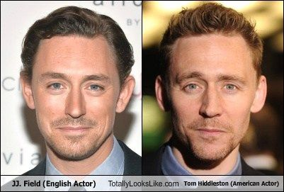 JJ. Field  Totally Looks Like Tom Hiddleston... Holy cow!!! Another incredibly good looking man!!! Swoon...