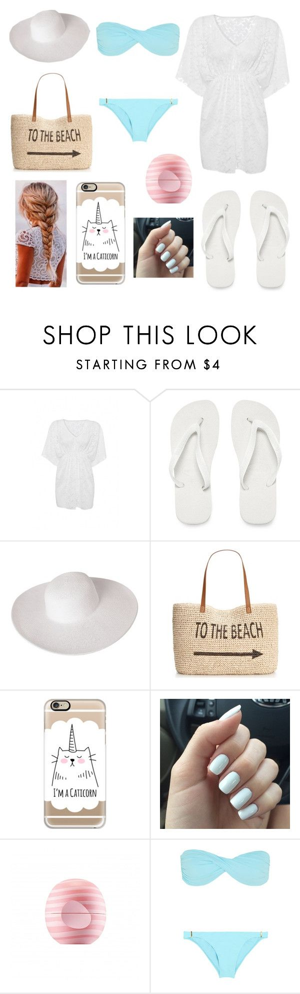 """""""Pool party"""" by laylaskye ❤ liked on Polyvore featuring Havaianas, Dorfman Pacific, Style & Co., Casetify, Eos and Melissa Odabash"""
