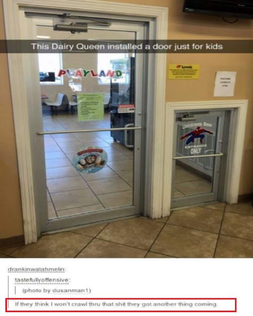 This Dairy Queen installed a door just for kids | memes