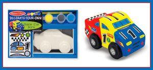 Melissa & Doug Race Car Ceramic Piggy Banks – DYO