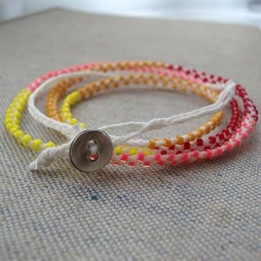 Irish linen wrap bracelet