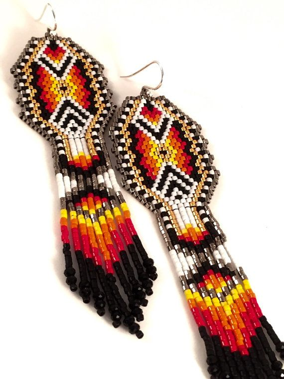The Monarch Beaded Earrings by Calisi on Etsy