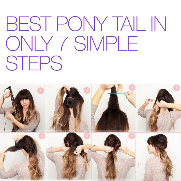 Want a fuller looking pony tail? Follow these 7 simple steps #TutorialTuesday #StayAmazing