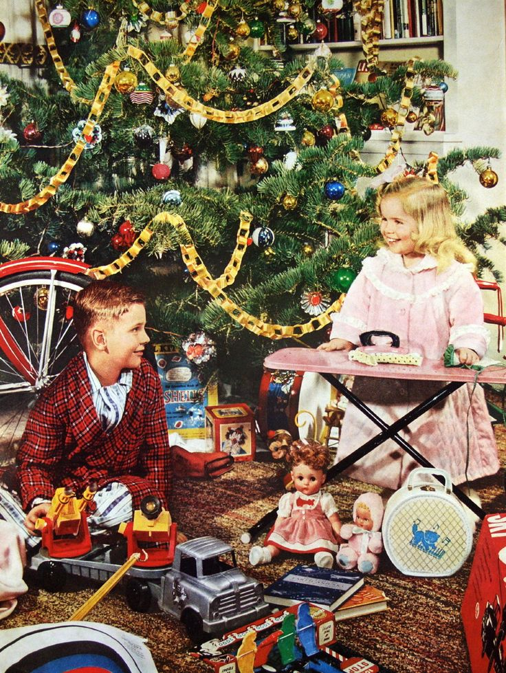 1959 Christmas morning - I got a toy iron that plugged in and really got hot. What were they thinking?
