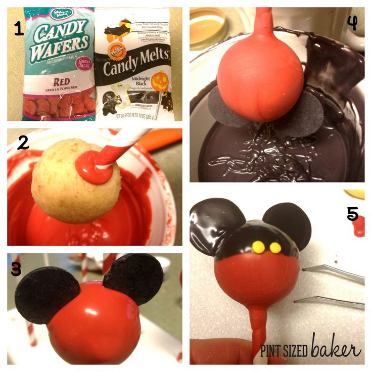 Cute Mickey Mouse cake pops! #mickey #disney #cakepop
