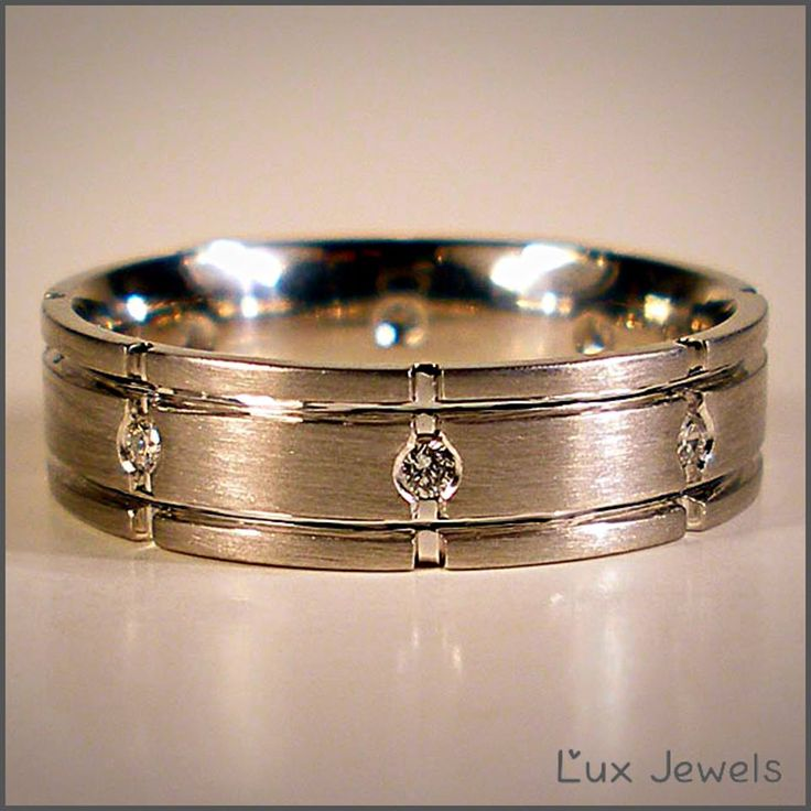 It really is hard to find the perfect wedding band for a man. Most of what's in the retail stores is too thin and doesn't look good on a man's hand. We think you deserve something that represents your personality. www.luxjewels.com