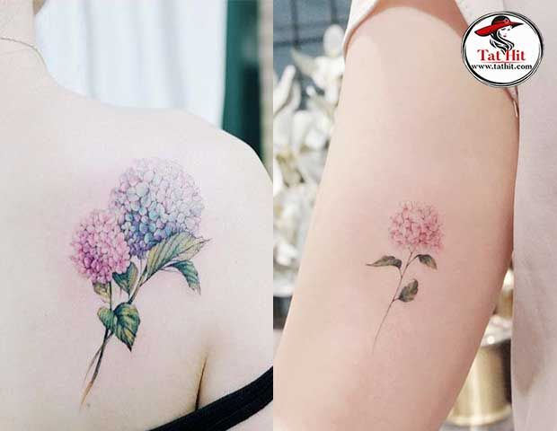 Watercolor Hydrangea Tattoo Designs In 2020 Hydrangea Tattoo Tattoos Flower Tattoo Shoulder