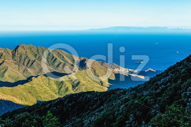 Qdiz Stock Photos | Coast or shore of Atlantic ocean,  #Atlantic #blue #Canary #coast #green #horizon #island #landscape #mountain #nature #ocean #rock #scenicviewday #sea #sky #skyline #Spain #spring #Tenerife