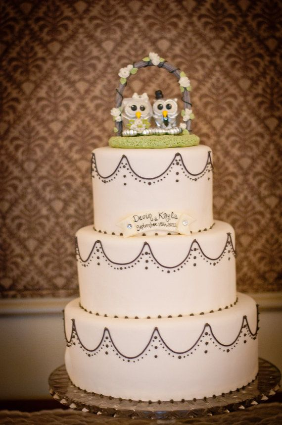 Owl Love Bird Wedding Cake Topper Silver Owls With By