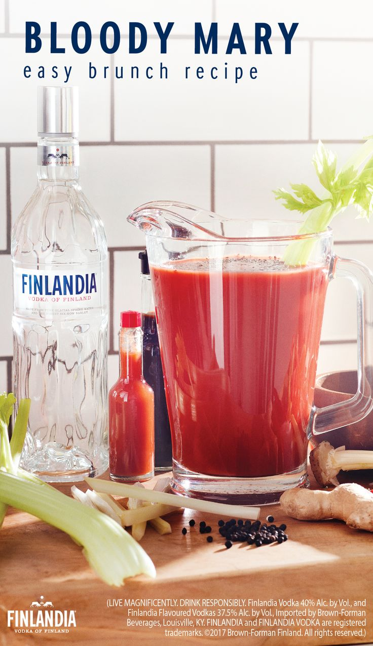 Spice up your life with a Finlandia Bloody Mary. Enjoy great food, great company and a great drink at brunch. This refreshing, easy-to-make and flavorful recipe will keep you looking forward to get-togethers with your friends.