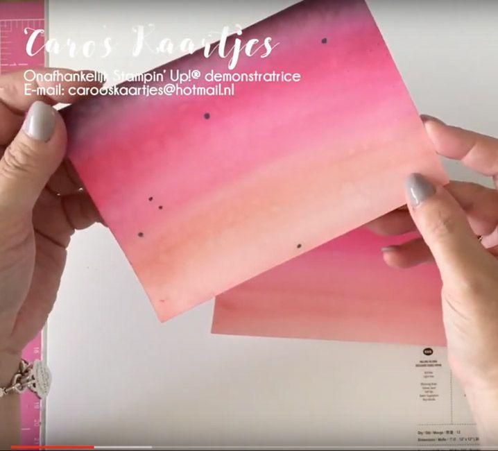 Caro's Kaartjes | Onafhankelijk Stampin' Up! demonstratrice | carooskaartjes@hotmail.nl | Boeket vol goede wensen | Bloomin' Heart thinlits stansen | Aquarel | zelf achtergrondjes maken | watercoloring | watercoloring techique | aquarel techniek | embossing | goud embossen | video tutorial | uitleg met video | creatief | diy | stempelen | stamping | kaart voor trouwdag | trouwdag | kaarten maken | creatief westland | Stampin' Up! Wateringen | Stampin' Up producten | Stampi...