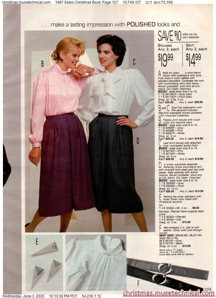 Sears Christmas Catalog 2021 1987 Sears Christmas Book Page 127 Christmas Catalogs Holiday Wishbooks In 2021 80s Fashion Cinderella Dresses Blouse And Skirt