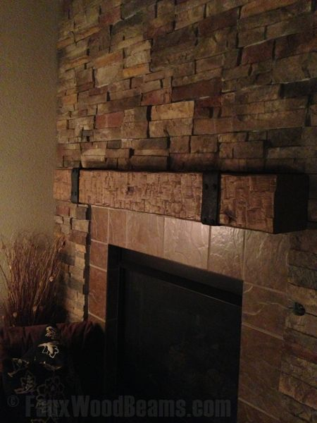 Faux Wood Beam As The Mantle House Stuff Pinterest Shelves Mantels And Mantles