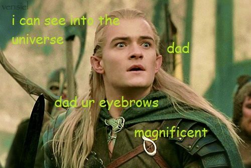 To Thranduil's ( Lee Pace) Eyebrows, a tribute. THEY ARE ...