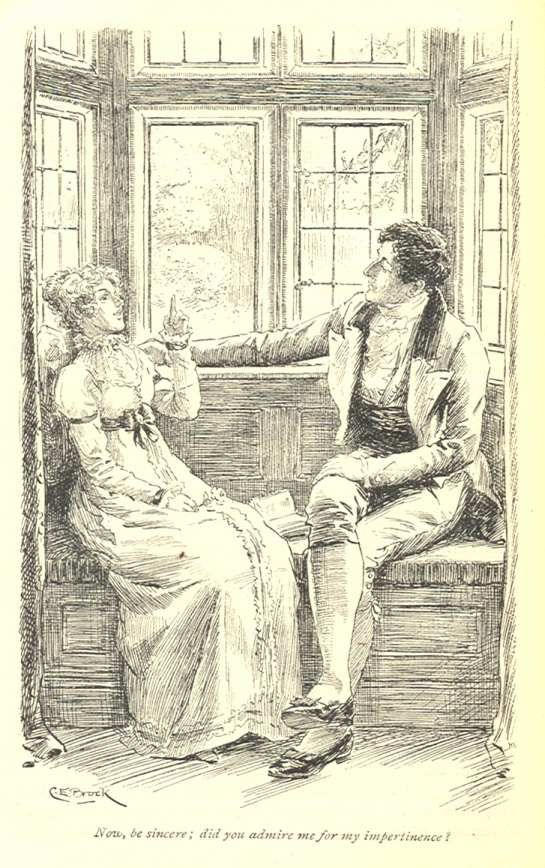 """""""Now, be sincere; did you admire me for my impertinence?"""" Elizabeth Bennet"""