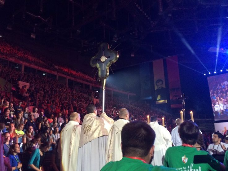 Adoration and Eucharistic Procession in World Youth Day, Cracow, Poland 2016