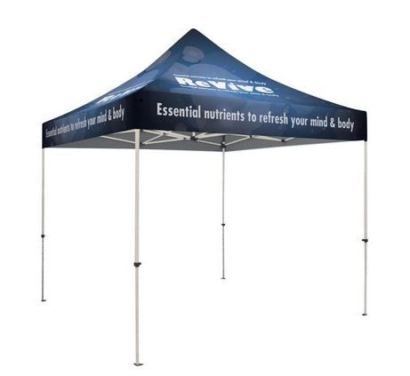 The most popular cost-effective tent features a lightweight construction and is easily portable. The pebble powder-coated steel frame, with strong ABS Nylon joints, provides durability with easy-push buttons for a pinch-free set-up. An effortless crank-up.