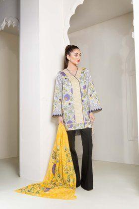 cd60e0ad6c Sapphire 2 Piece Lawn Vol-1 Custom Stitched Suit 2018 - Sultanate A ...