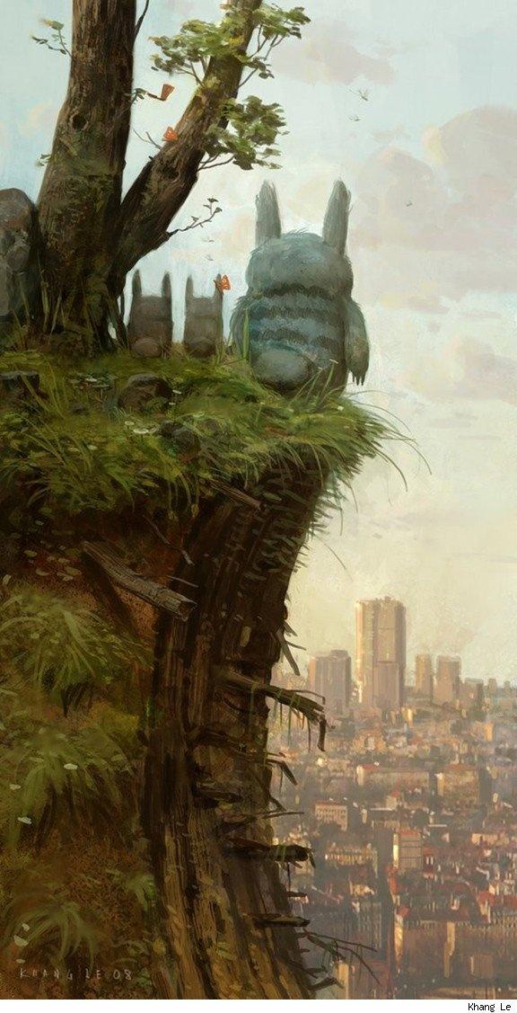 TotoroNot Them Miyazaki, Concept Art, Digital Art, Totoro, Conceptart, Illustration Art, Art Illustration, Studios Ghibli, Khang Le