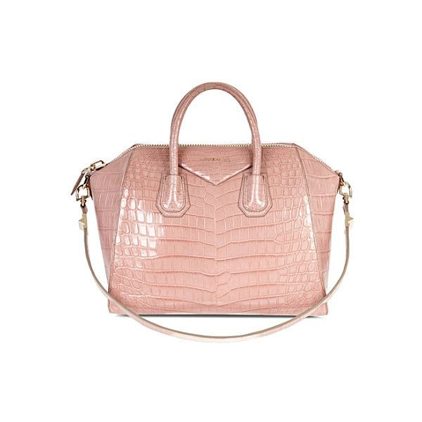 GIVENCHY Antigona medium crocodile leather tote (111.000 BRL) ❤ liked on Polyvore featuring bags, handbags, tote bags, laukut, foldable tote, zip tote, zipper pouch, foldable tote bag and zippered tote bag