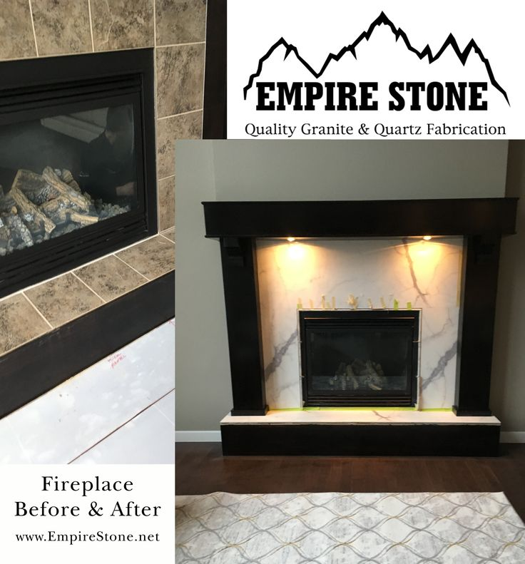 Fireplace Refacing - Porcelain imported from Italy http://empirestone.net/calgary-home-renovation/fireplace-refacing/