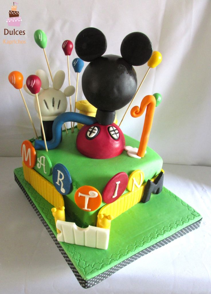 Torta Casa de Mickey #TortaCasaDeMickey #TortaMickey #TortasDecoradas #DulcesKaprichos