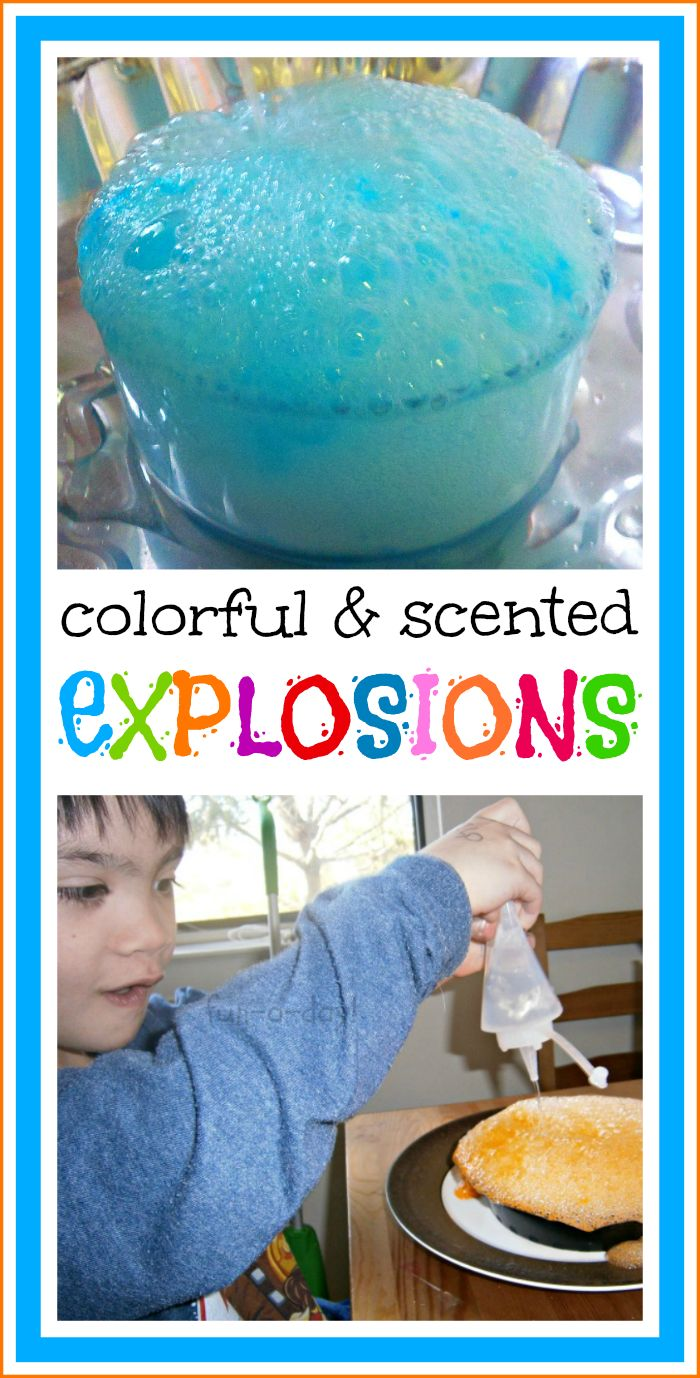 Colorful Explosions: A Mutli-Sensory Experiment with Jell-O and Vinegar