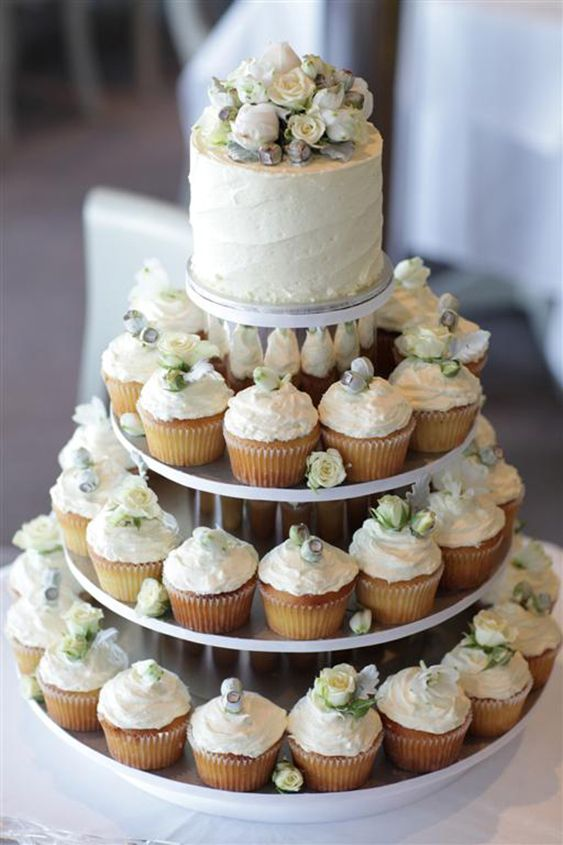 Wedding cupcake cake. Photo by Sugarlove Weddings