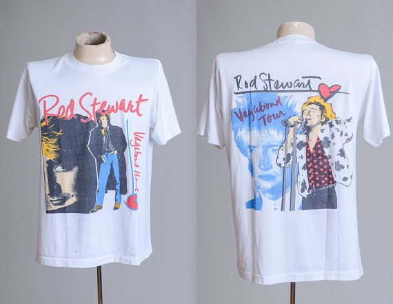 90s Rod Stewart Vagabond Heart Tour Rock T by RoslynVTGTradingCo