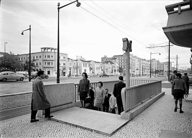 Lisboa de Antigamente: Estação de Metro do Campo Pequeno