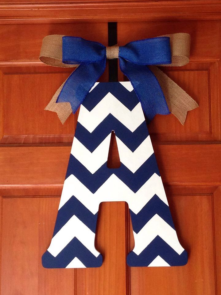 A personal favorite from my Etsy shop https://www.etsy.com/listing/258281492/solid-wood-chevron-painted-letters-with