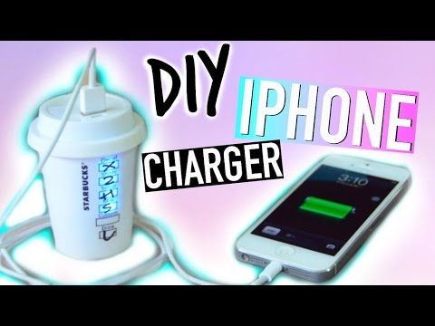 DIY starbucks iphone charger!! #DIY #diyprojects #EASYDIY