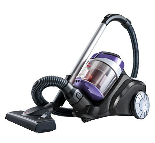 The Bissell 1535 Canister Vacuum Cleaner Features: Cyclonic Technology | Multi-Surface Cleaning | Metal Telescoping Wand | Lightweight | Auto Cord Rewind