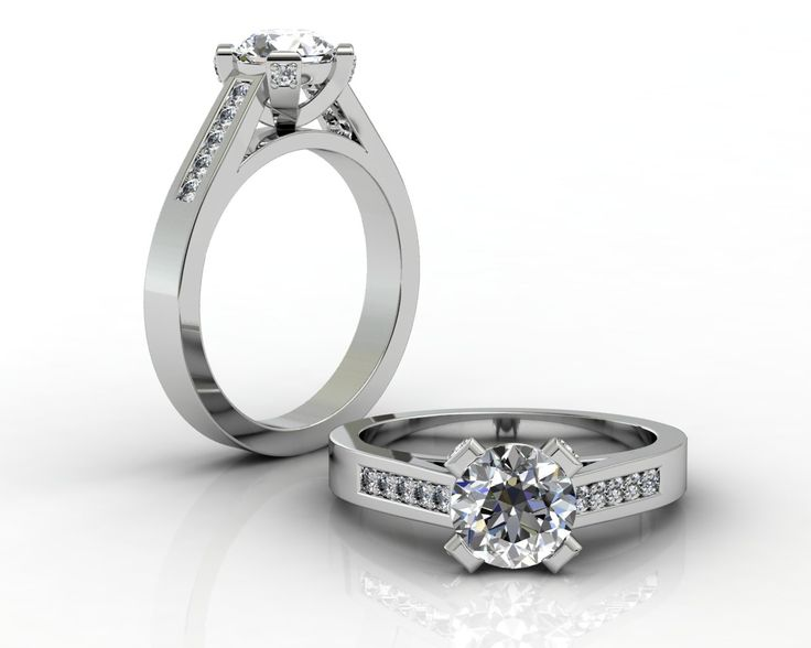 18ct White Gold 4 Claw Engagement Ring