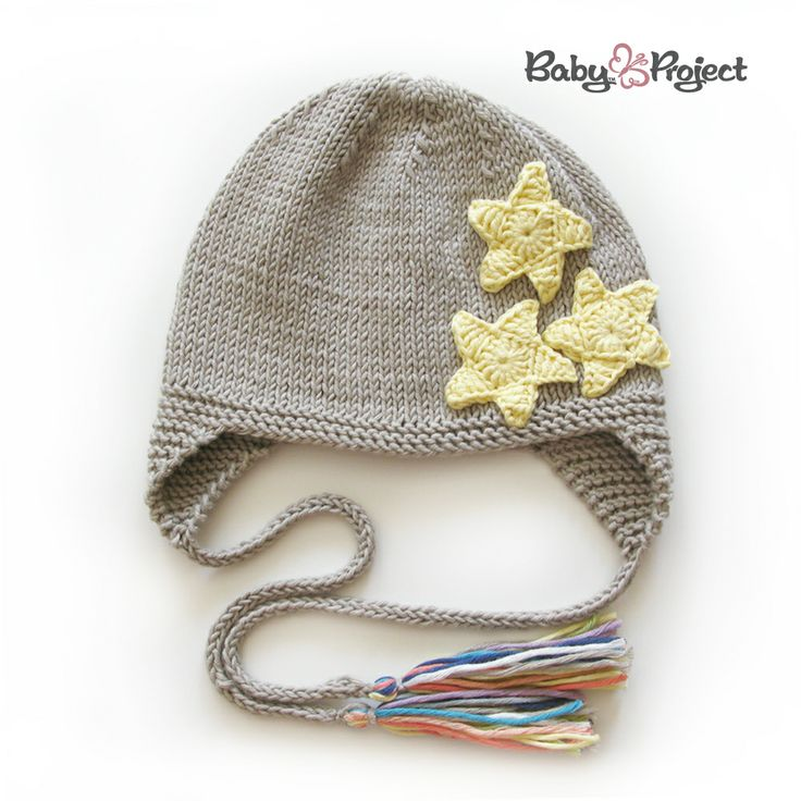 knitted hat with stars