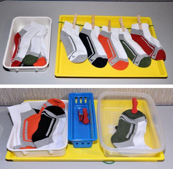 Matching socks task