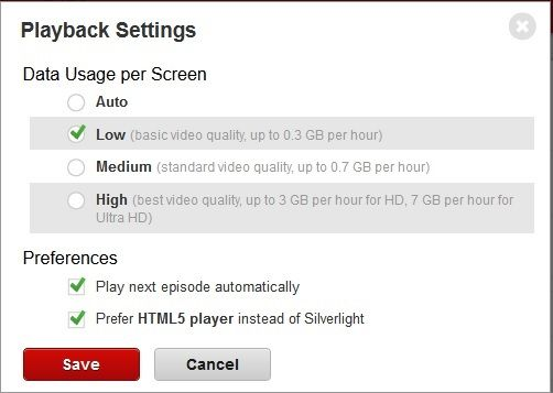 Use less of your Dataplan in Netflix! Log into Netflix over a browser and then go to Account Settings. Change it to Low--was able to basically let the kids watch unlimited Netflix after.  (Posted by Pocket_Monster on Facebook)
