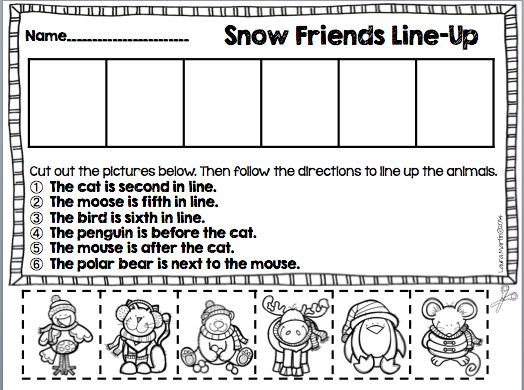 Ordinal Number and Positional Words FREEBIE