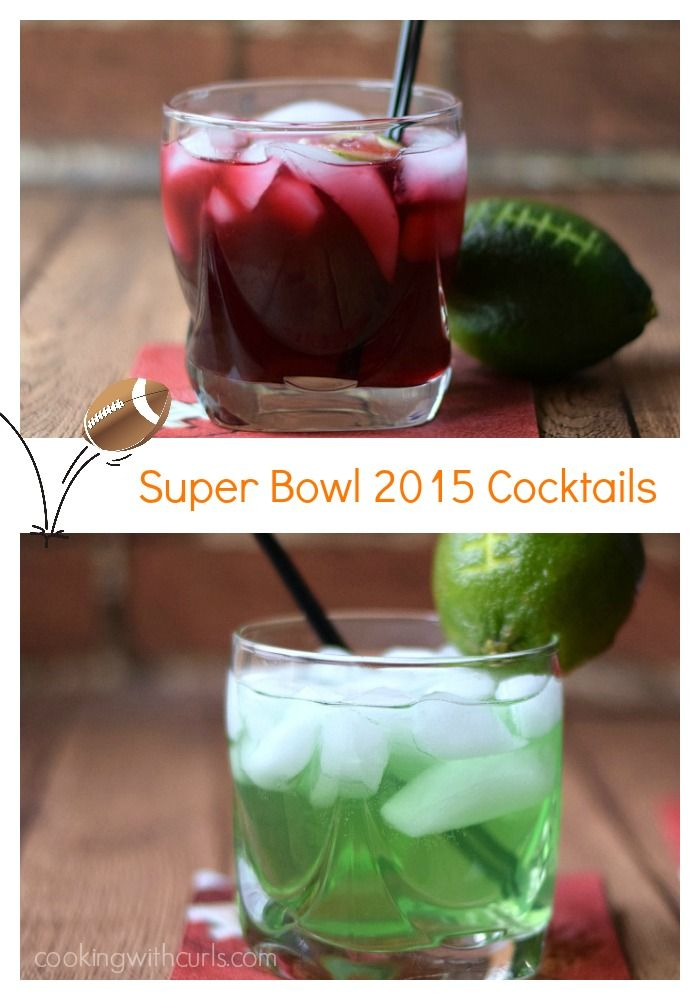 No game day would be complete with these Super Bowl 2015 Cocktails - Seahawks vs Patriots!!