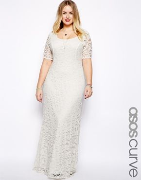 ASOS CURVE Maxi Dress In Lace - on sale for $70.12 with free shipping.