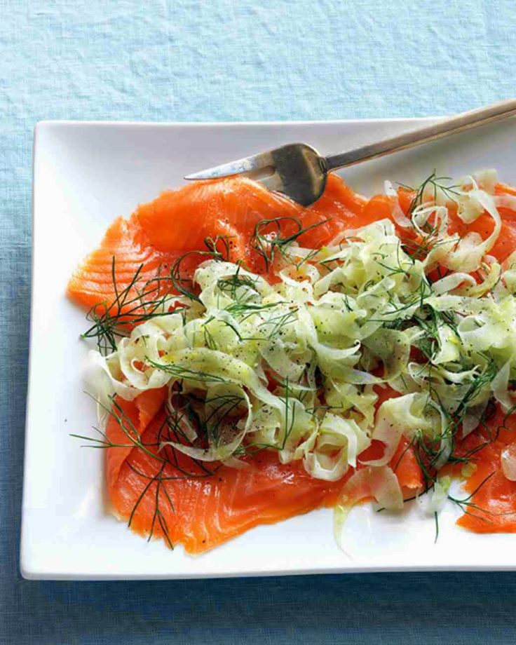 The Weekend Magazine :   Easter Smoked Salmon with Fennel& Pickled Cucumb...