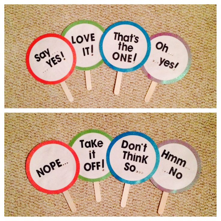 DIY - Say yes to the dress score paddles!